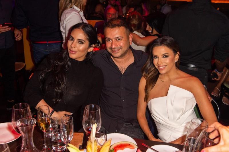 Deyvanshi Masrani, Kamal Hotchandani and Eva Longoria