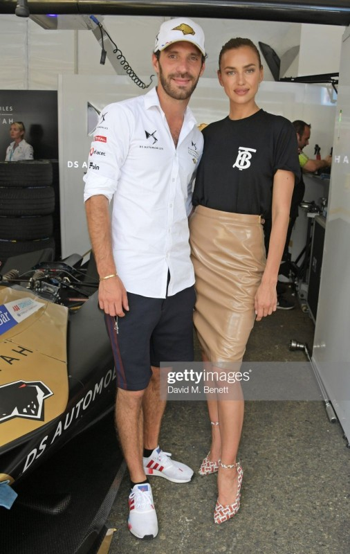 Jean-Eric Vergne and Irina Shayk
