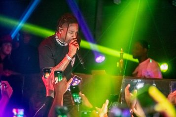 Travis Scott performs at Marquee Nightclub