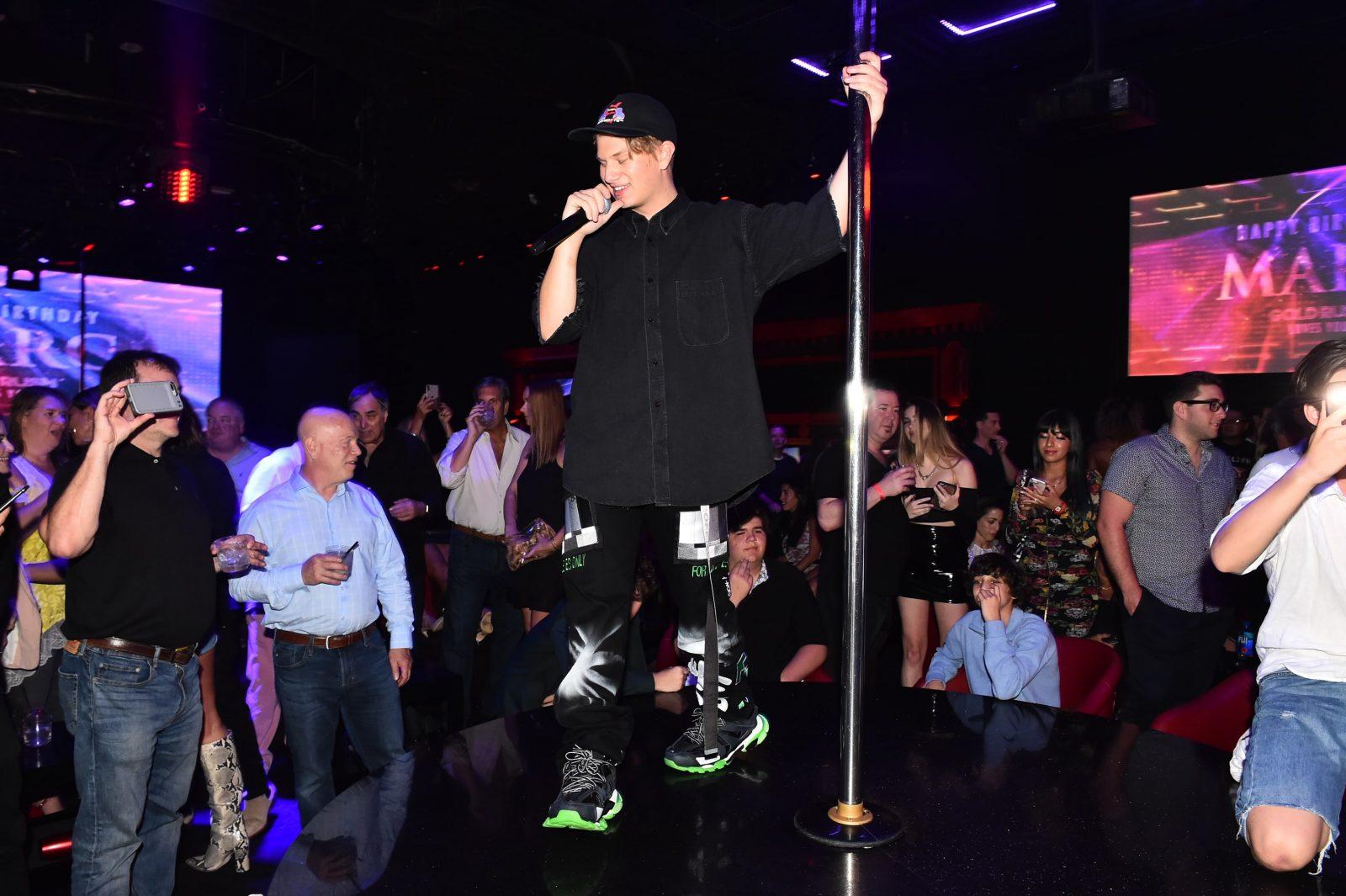 Justin Roberts performs at Marc Roberts birthday
