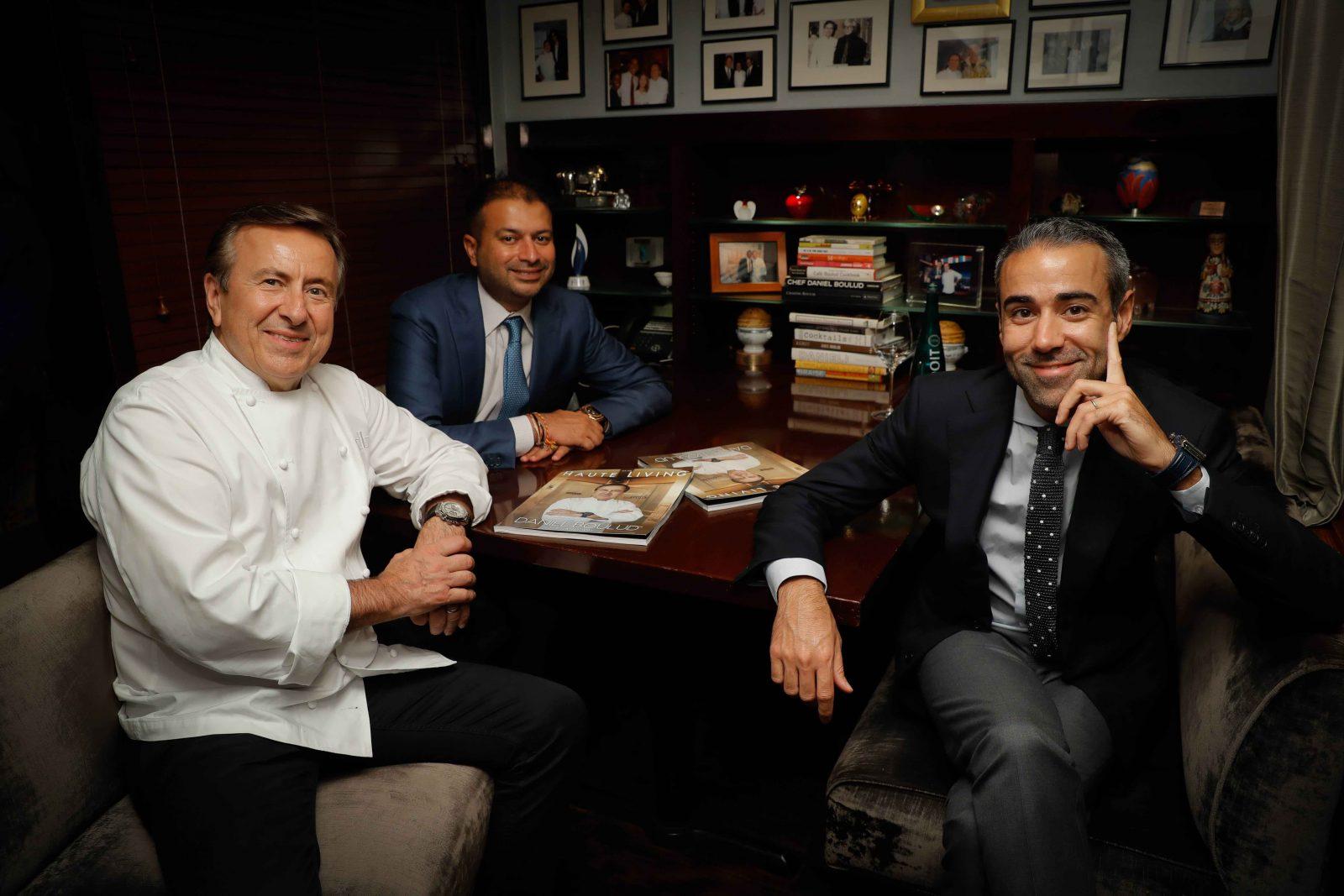 Chef Daniel Boulud, Kamal Hotchandani and Jean-François Sberro