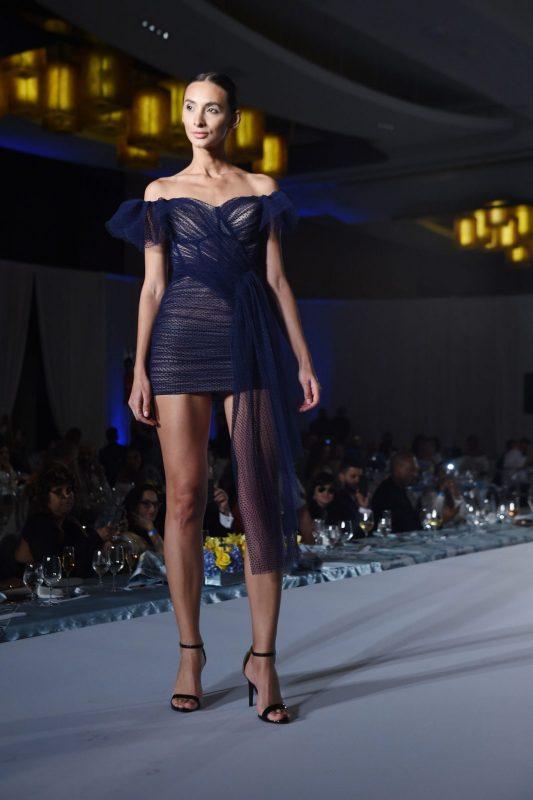 Gustavo Cadile Runway Royal Blue Dress
