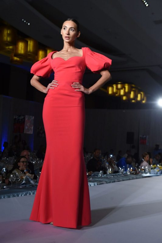 Gustavo Cadile Runway Dress with Puffy Sleeves