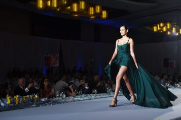 Gustavo Cadile Runway Green Dress