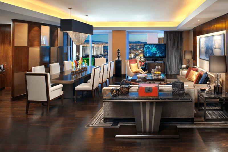 Waldorf Astoria Las Vegas Penthouse Dining and Living