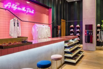 pink shirtmaker Brookfield Place