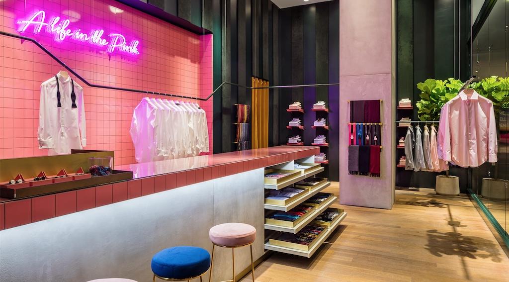 pink shirtmaker Brookfield Place