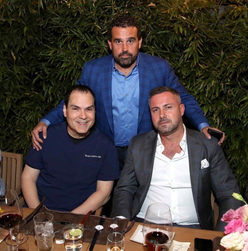 Dr. Stuart Kaplan, Seth Semilof and Brice Le Troadec