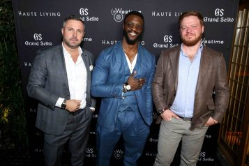Brice Le Troadec, Aldis Hodge and Greg Simonian
