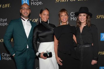 Swizz Beatz, Alicia Keys, Slyia Rhone and Sara Bareilles