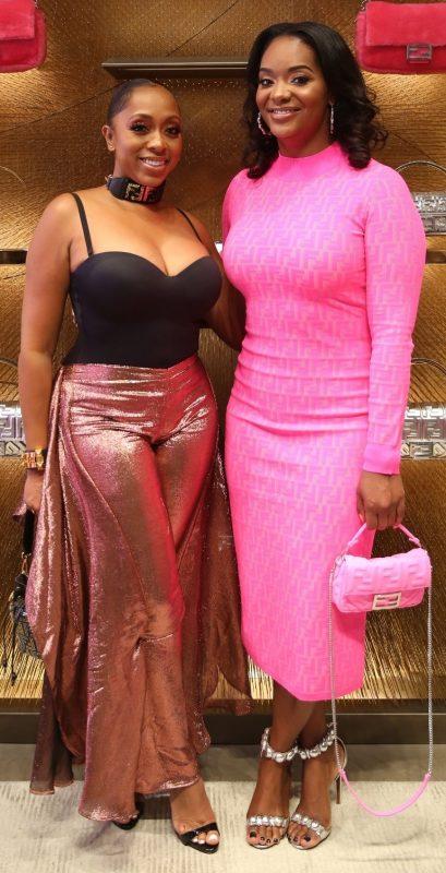 Dionne Boldin and Kijafa Vick at FENDI