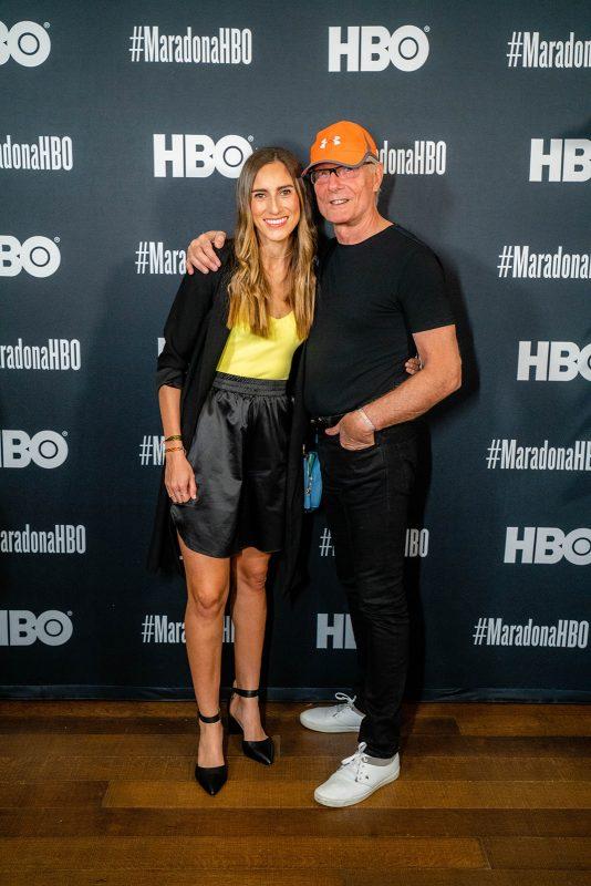 Melissa Ortiz and Fernando Signorini at Screening