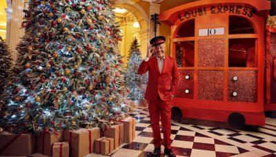 Claridge's Christmas Tree by Christian Louboutin