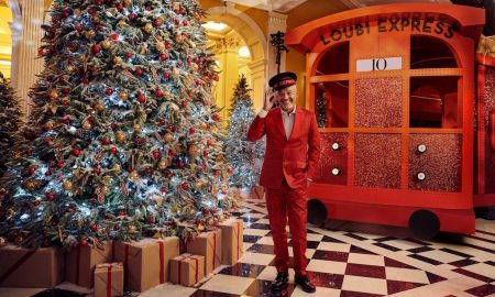 Claridge's Christmas Tree by Christian Louboutin