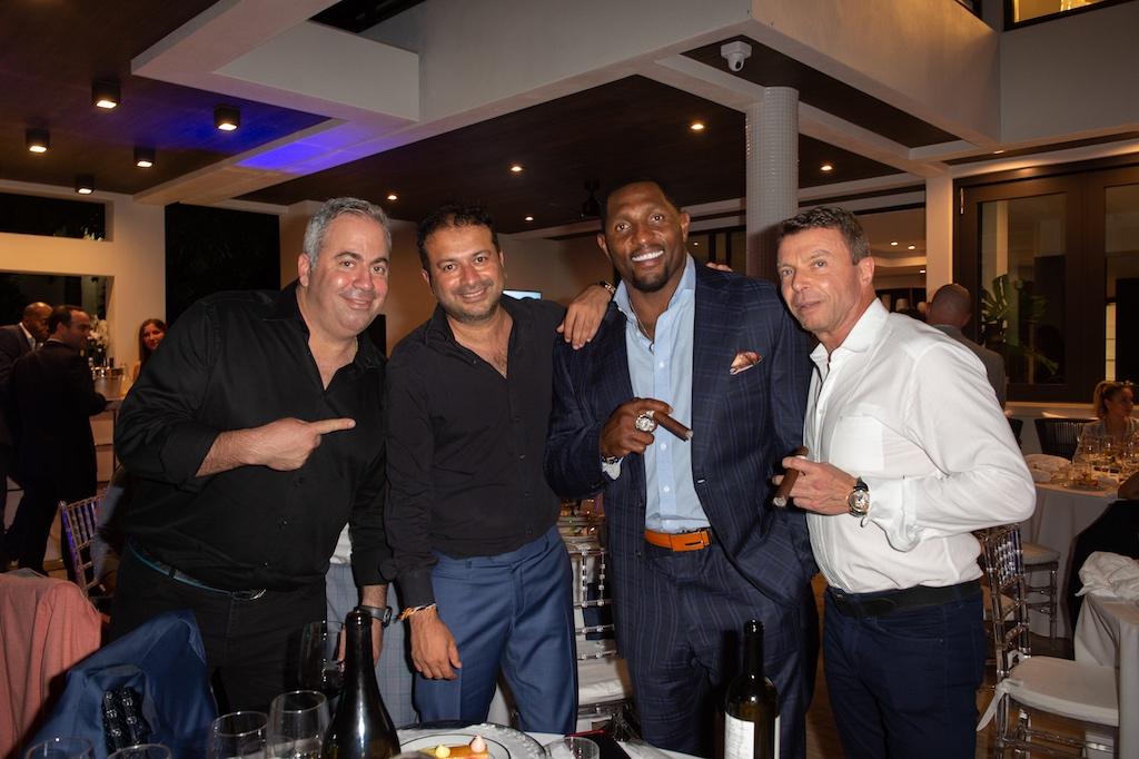 Joey Goldman, Kamal Hotchandani, Ray Lewis, Dennis Crowley