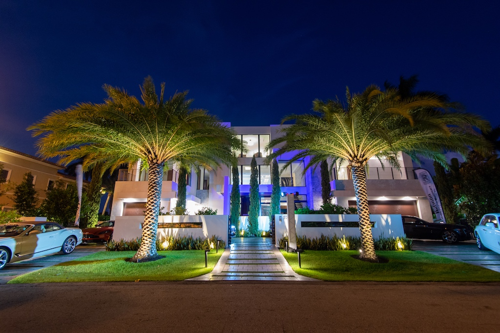 Holman Motorcars Mansion by night