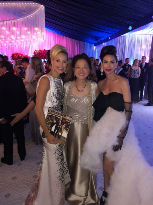 Opening night gala Co-Chair Rachel Bowman, Olivia Decker of Haute Living, and Co-Chair Nicole Lacob