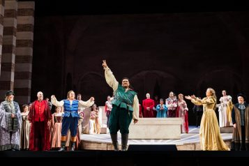 Tenor Pene Pati, starring as Romeo, and Soprano Nadine Sierra, as Juliet, in San Francisco Opera's opening night.
