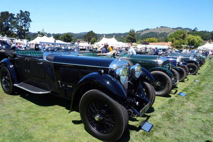 24 vintage Bentley celebrating 100th anniversary of Bentley Motors