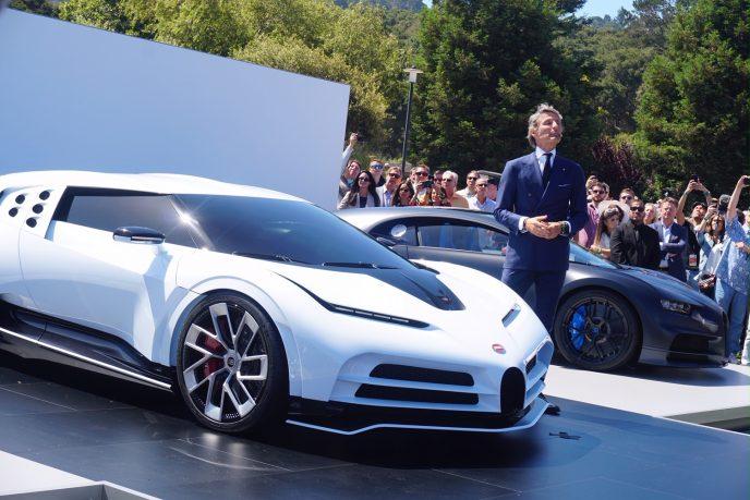 Stephan Winkelmann, President of Bugatti, unveiled new Centodieci to celebrate the 110th Anniversary
