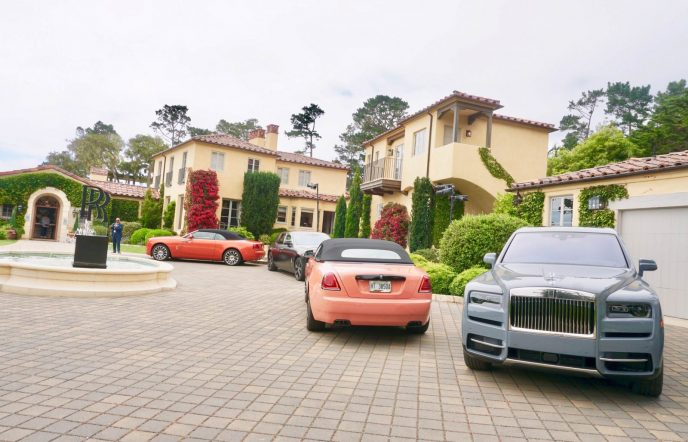 Collection Cars at Rolls Royce villa Casa Ladera, Pebble Beach