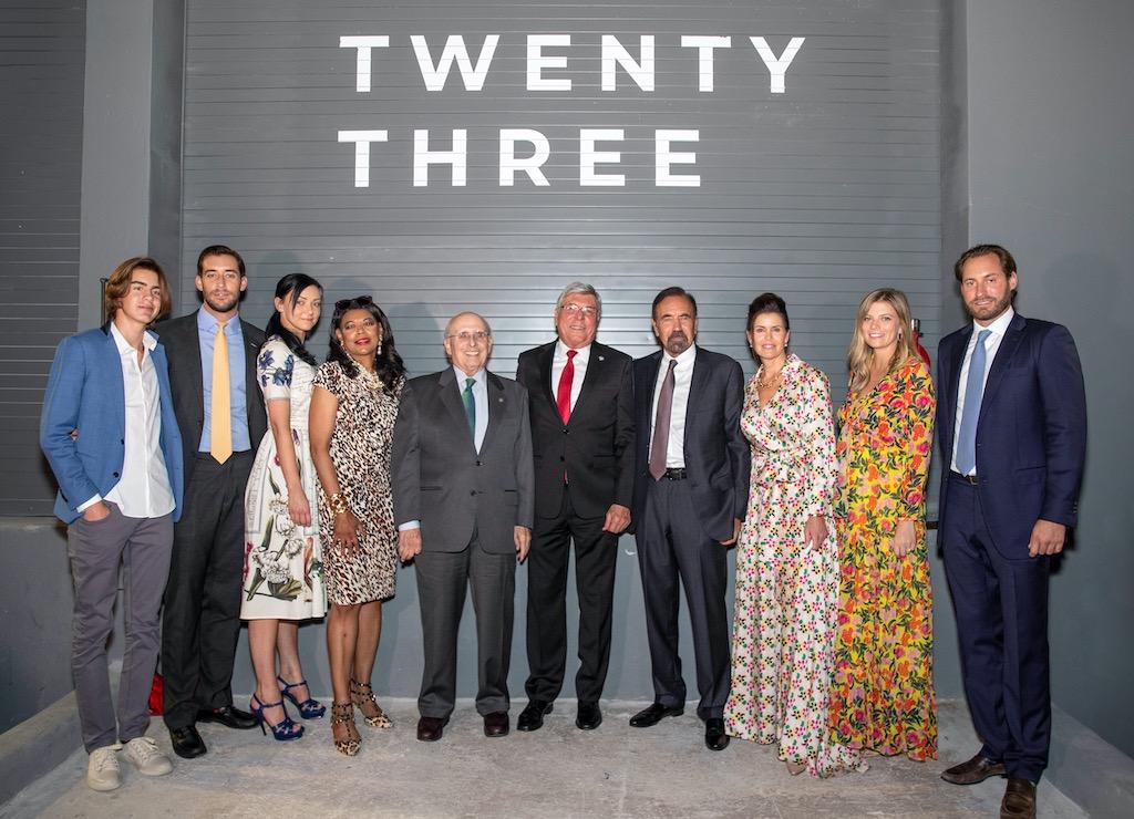 Felipe, Nicholas & Christina Pérez; Denise Cleveland-Leggett; Raúl Valdés-Fauli; City of Miami Commissioner Manolo Reyes; Jorge, Darlene, Kastyn & Jon Paul Pérez