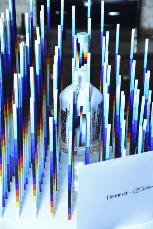 Hennessy bottle by Felipe Pantone