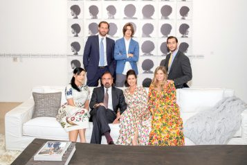 TOP - Jon Paul Pérez, Felipe Pérez, Nicholas Pérez, BOTTOM - Christina Pérez, Jorge M. Pérez, Darlene Boytell-Pérez, Kastyn Pérez