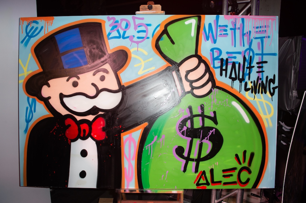 Alec Monopoly's live painted custom masterpiece