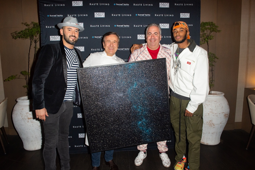 Dmitry Prut, Chef Boulud, Joey Goldman AKA Gold Man and Skyler Grey