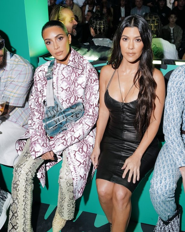 Kim Kardashian, Kourtney Kardashian DIOR MEN FALL 2020: RUNWAY SHOW