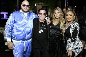 "Fat Joe, JR Ridinger, Loren Ridinger and Lorena Cartagena SHOP.COM & Haute Living Celebrate The Release Of ""Family Ties"", Fat Joe's Newest & Last Album At The Ridinger Estate In Miami Beach, Florida"