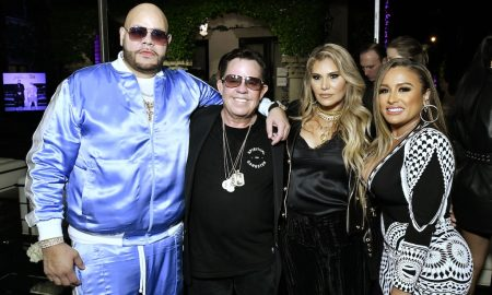 "Fat Joe, JR Ridinger, Loren Ridinger and Lorena Cartagena SHOP.COM & Haute Living Celebrate The Release Of ""Family Ties"", Fat Joe's Newest & Last Album At The Ridinger Estate In Miami Beach, Florida"