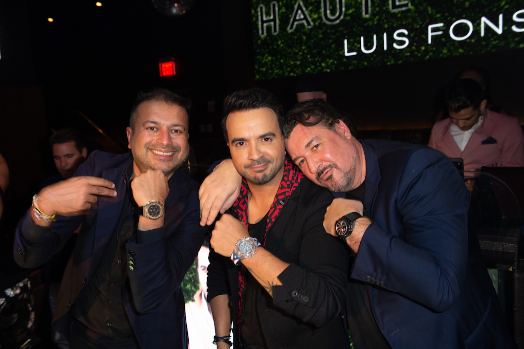 Kamal Hotchandani, Luis Fonsi and Rick De La Croix