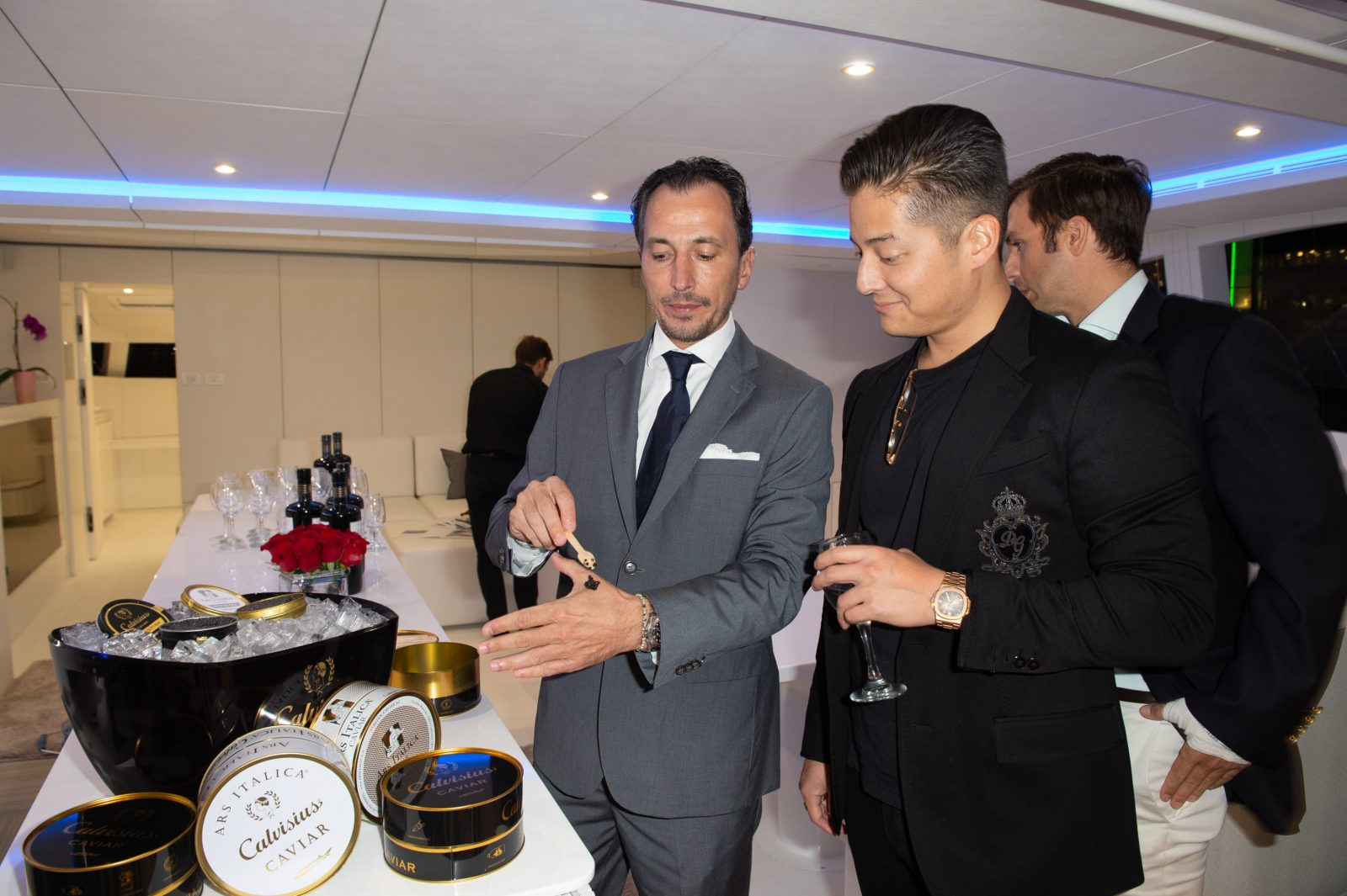 Michael Pulchino trying Calvisius Caviar