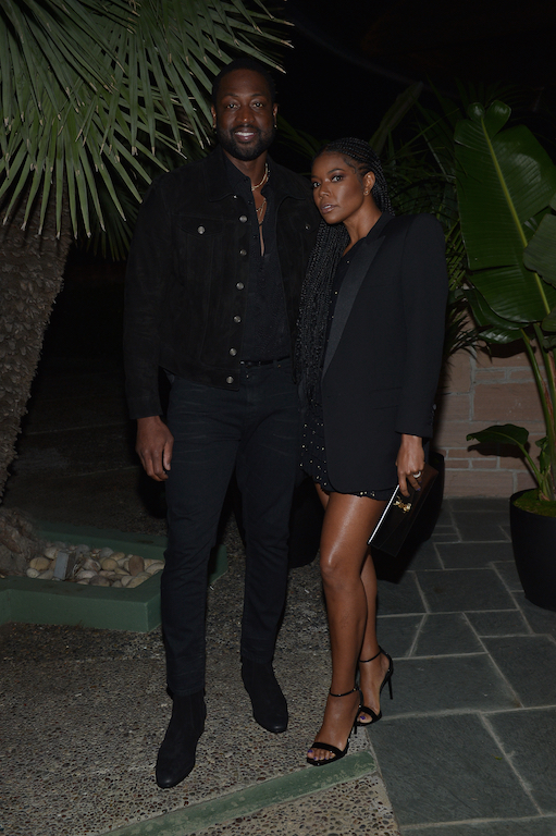 Dwyane Wade & Gabrielle Union Saint Laurent Pre-Golden Globes Party Hosted By Anthony Vaccarello And Rami Malek
