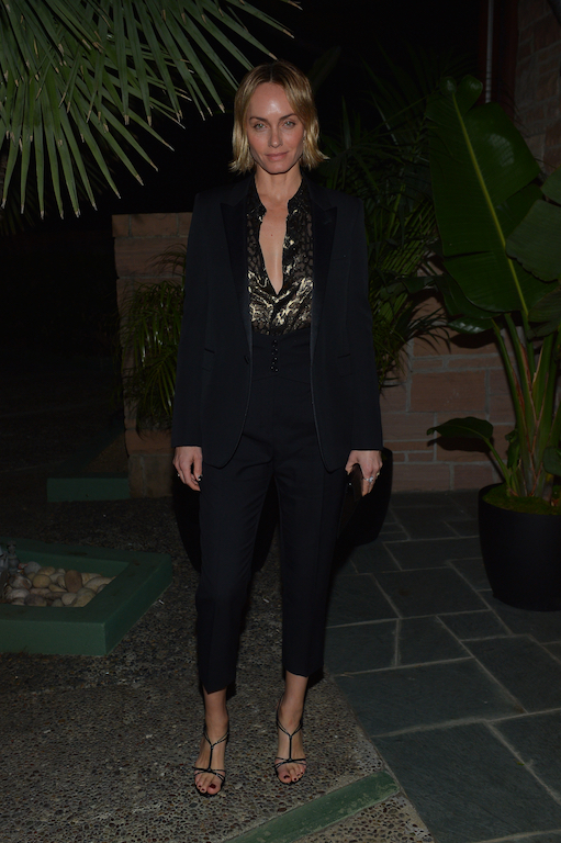 Amber Valletta Saint Laurent Pre-Golden Globes Party Hosted By Anthony Vaccarello And Rami Malek