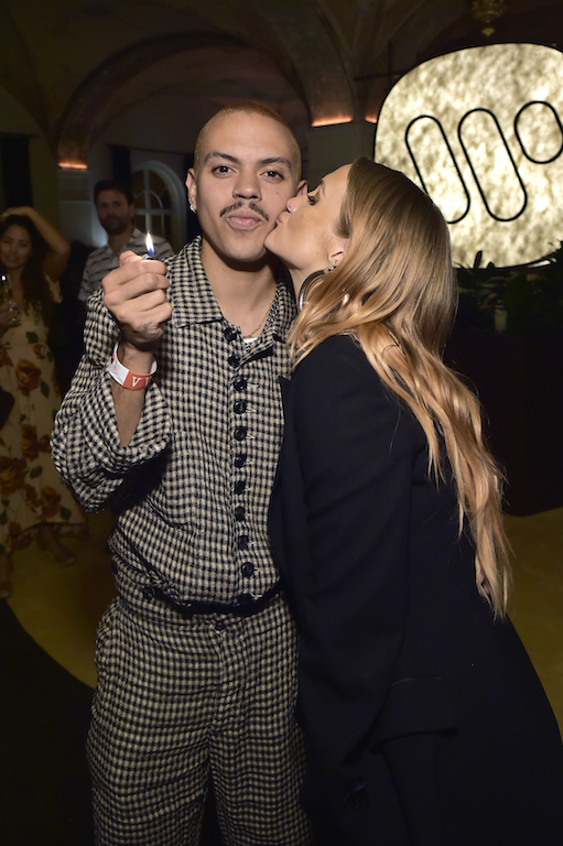 Evan Ross and Ashlee Simpson Warner Music Group Pre-Grammy Party - Inside