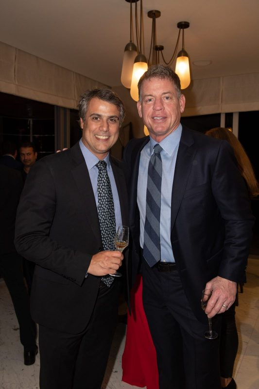 Marcelo Kingston and Troy Aikman