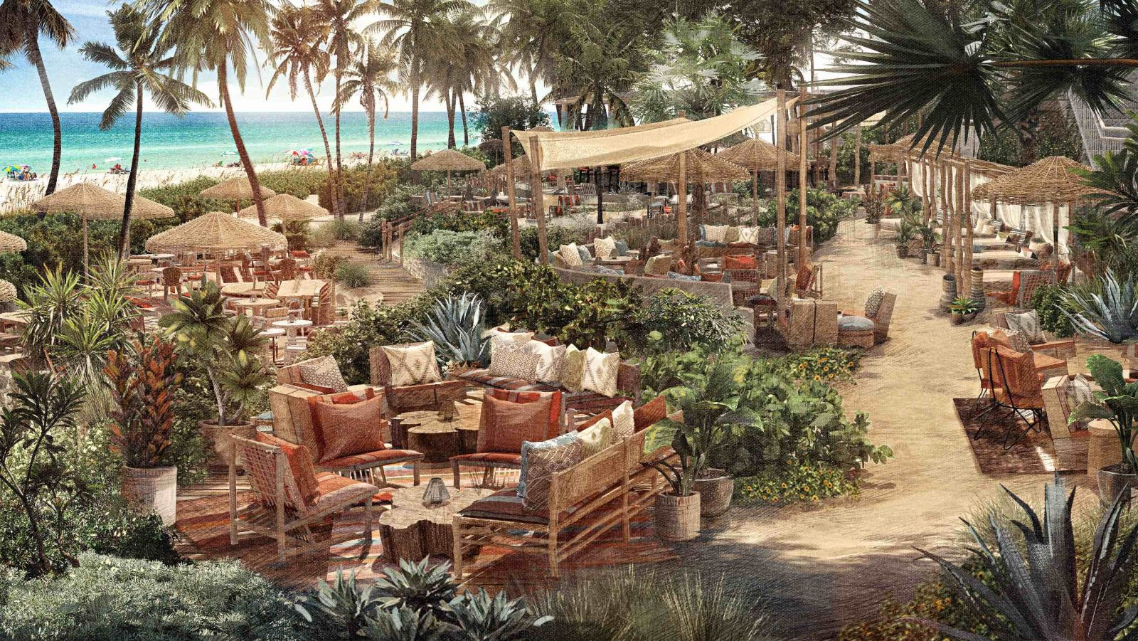 1 Hotel South Beach Launches 1 Beach Club New Restaurant Wave
