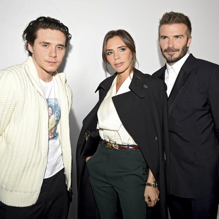 Brooklyn, Victoria & David Beckham Dior Homme : Backstage - Paris Fashion Week - Menswear F/W 2020-2021