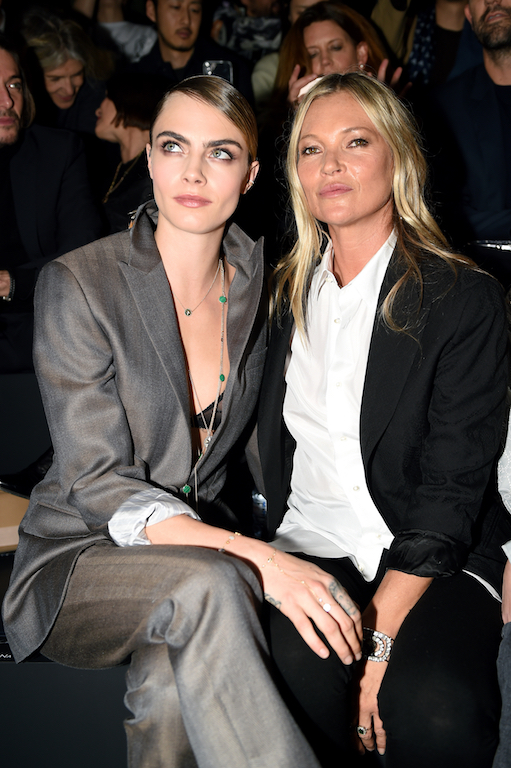 Cara Delevingne and Kate Moss Dior Homme : Front Row - Paris Fashion Week - Menswear F/W 2020-2021