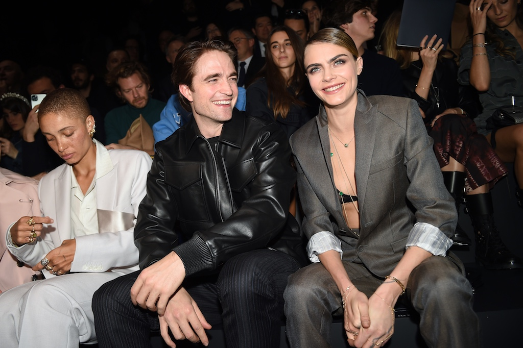 Robert Pattinson and Cara Delevingne Dior Homme : Front Row - Paris Fashion Week - Menswear F/W 2020-2021