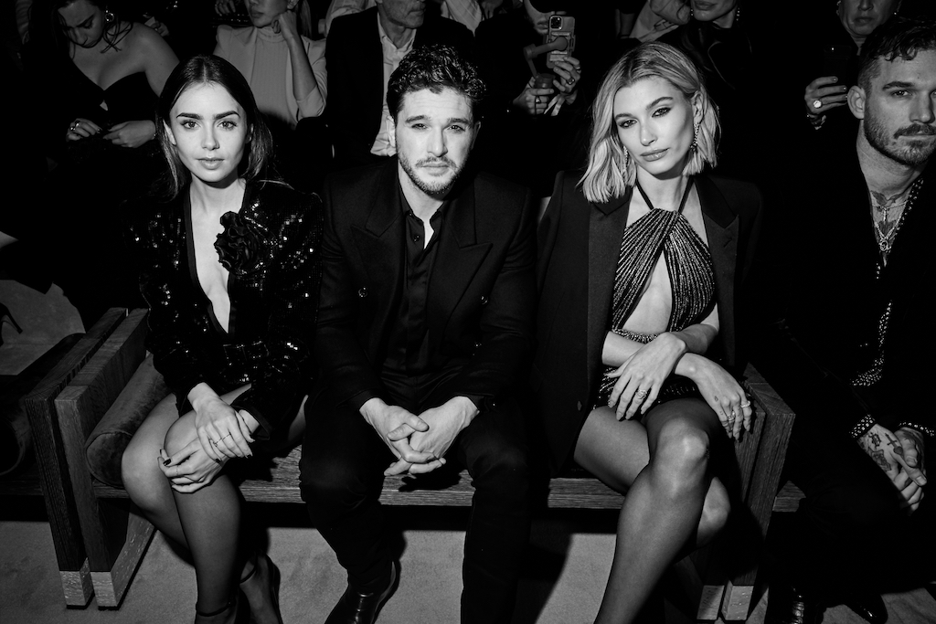 Lily Colins, Kit Harington & Hailey Bieber
