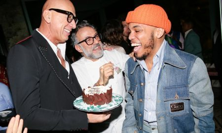 Marco Bizzarri, Massimo Bottura, Anderson .Paak GUCCI CELEBRATES THE OPENING OF GUCCI OSTERIA DA MASSIMO BOTTURA BEVERLY HILLS