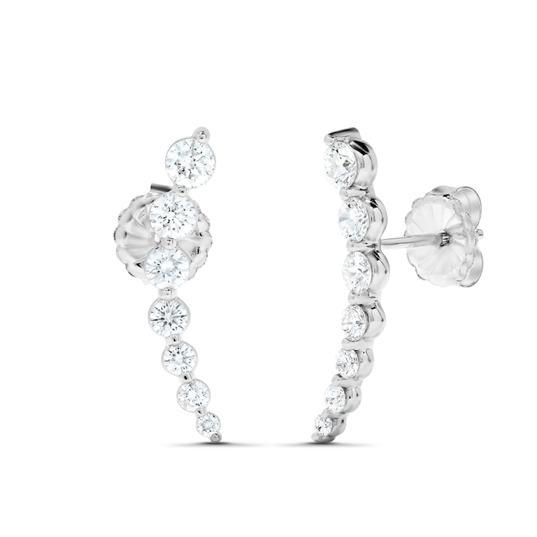 MAYORS 1.22CTW Brilliant-Cut Ear Climbers in 18K white gold