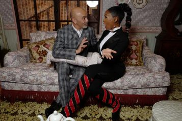 Janelle Monae and Christian Louboutin at the opening of L'Exhibition[niste] - © Stéphane Feugère (1)
