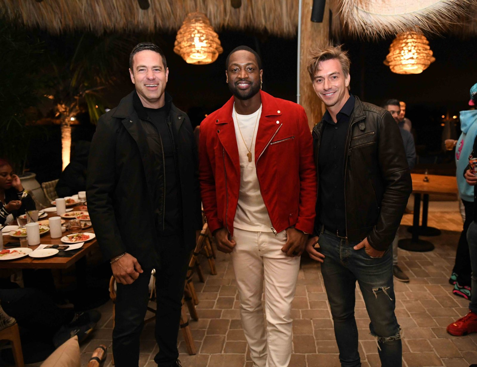 Dwyane Wade, Mio Danilovic, Marko Gojanovic at Joia Beach - PHOTO CREDIT - BOB METELUS[1]