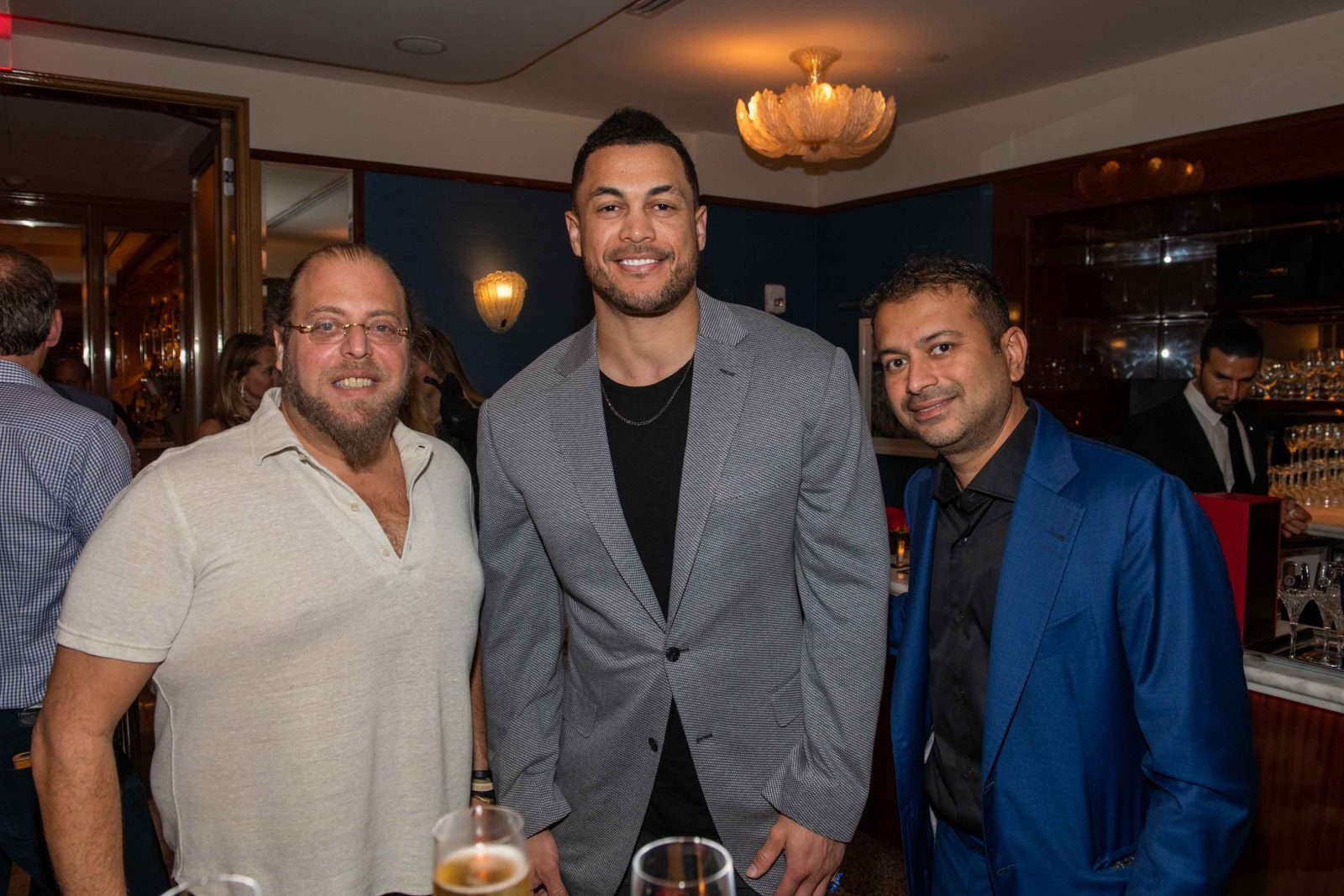 Gil Dezer, Giancarlo Stanton and Kamal Hotchandani