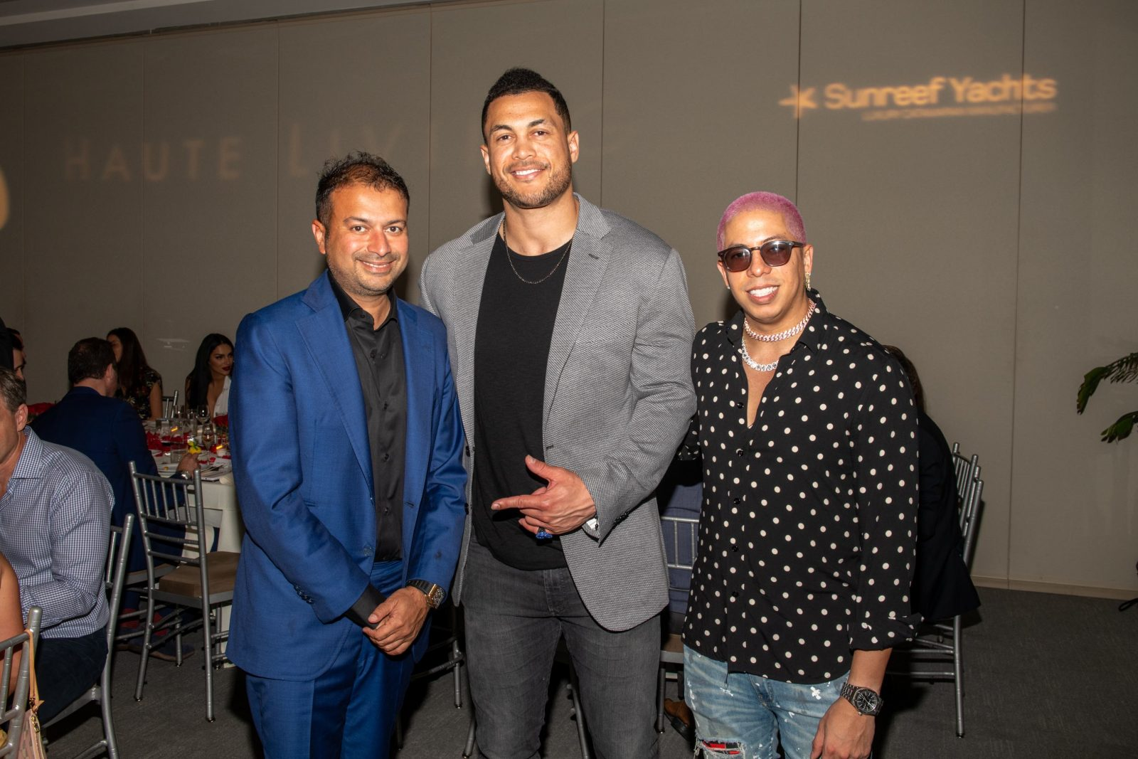 Kamal Hotchandani, Giancarlo Stanton and Purple